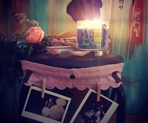candle, rose, and diy image