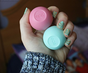 eos, blue, and makeup image