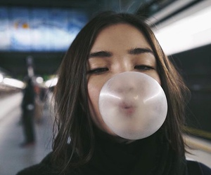 girl and bubblegum image