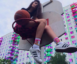 girl, Basketball, and tumblr image