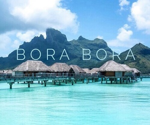 romantic, travel, and borabora image