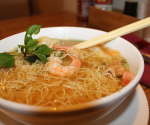 food, soup, and vietnamese soup image