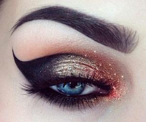 blue, makeup, and eye image