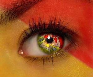 eye, sicily, and flag image
