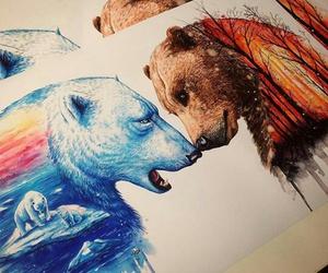 bear, art, and ice image