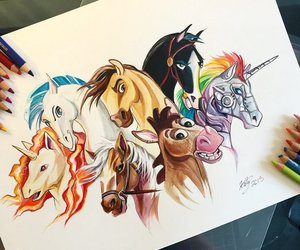 horse, art, and mulan image