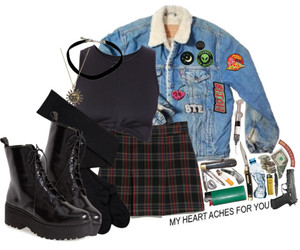 aesthetic, grunge, and Polyvore image
