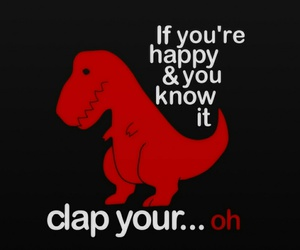 funny, happy, and dinosaur image