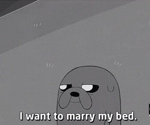 bed, marry, and adventure time image