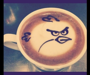 angry birds, coffee, and angry bird image