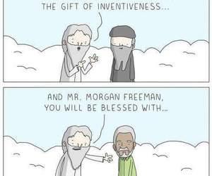funny, god, and morgan freeman image