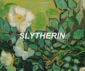 harry potter, slytherin, and flowers image