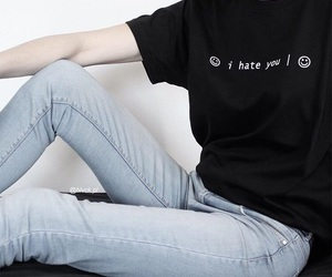 black, blvck, and i hate you image