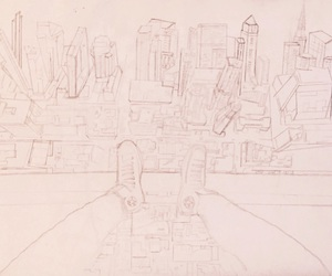 art, drawing, and building image