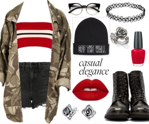 army, black, and casual image
