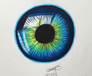 blue, drawing, and green image