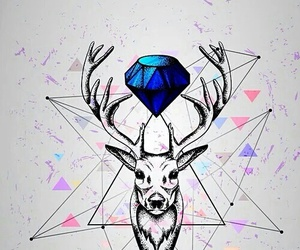 blue and deer image