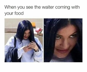 funny, food, and kylie jenner image