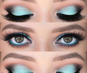 azul, make up, and maquillaje image