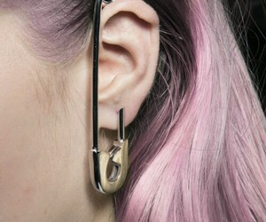 earrings, cool, and piercing image