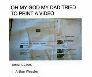 funny, harry potter, and arthur weasley image