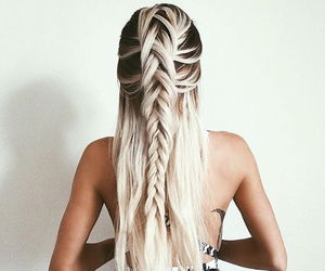 blond, braids, and hair image