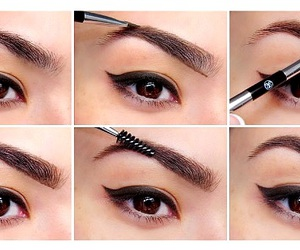 make up, sourcil, and tuto sourcil image