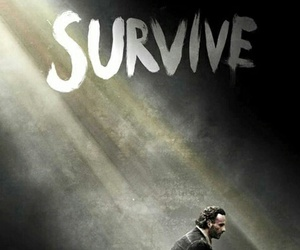 survive, the walking dead, and rick image