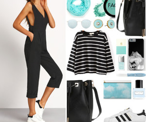 casual, stripes, and outfit of the day image