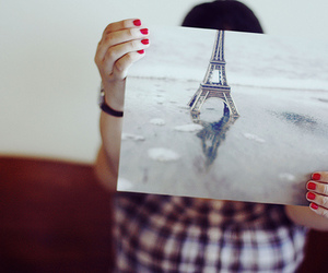 paris, eiffel tower, and photo image