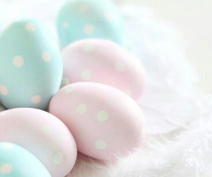 easter, pastel, and eggs image