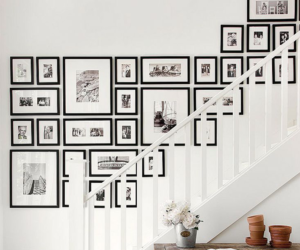 ideas, picture frames, and staircase image