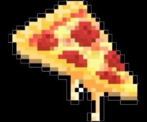 pixel and pizza image
