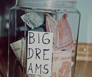 dreams, jar, and money image