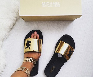 mk, Michael Kors, and gold image