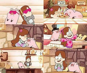 pato, pig, and gravity falls image
