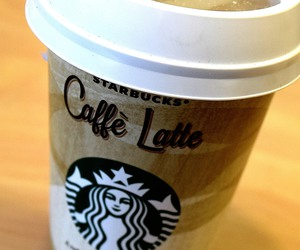caffe latte, starbucks, and latte image