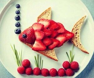 fish, food, and fruit image