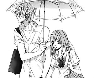 anime, couple, and school image