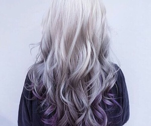 hair, purple, and white image