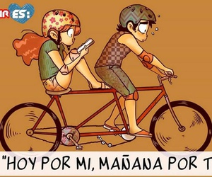 bicycle, the love is, and trip image