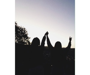 sunset and friends image