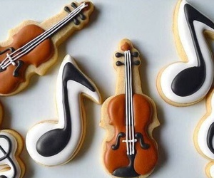 classical music, Cookies, and violin image