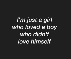 quote and girl image