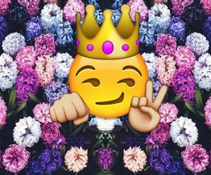 emoji and flowers image