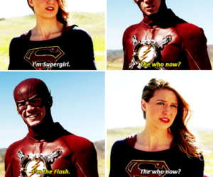 Supergirl, tv show, and the flash image