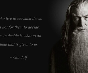 decide, gandalf, and hope image