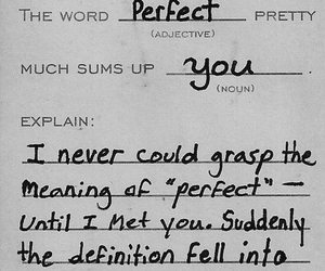 love, perfect, and quotes image