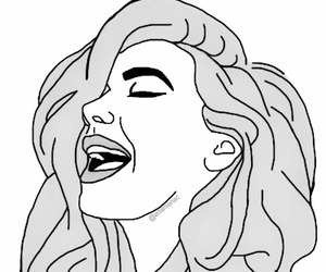 girl, hair, and outlines image
