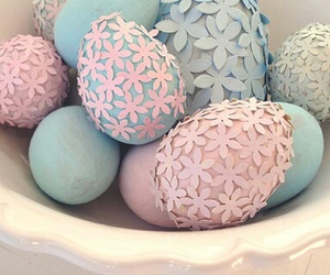 easter, eggs, and pink image